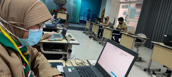 ANBK saat Pandemi, Siswa Spemma Bawa Laptop Masing-Masing
